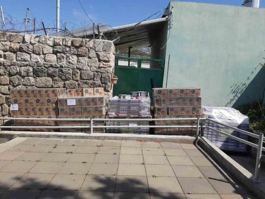 פורינה ישראל תרמה מזון בשווי אלפי שקלים \\ צילום: יחצ